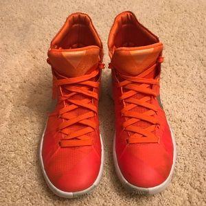 Boys Nike Orange Hyperdunk PRM Basketball Shoes